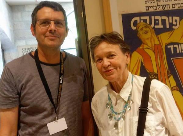 לורי אנדרסון ומעריץ. השבוע בסינמטק ירושלים