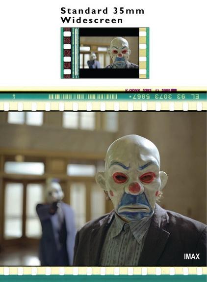 batman - imax to 35mm comparison