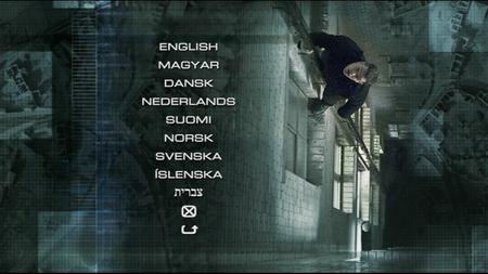 """תפריט הדי.וי.די לסרט """"זהות במלכודת"""" מציע לבחירה שפה קצת קוצנית"""