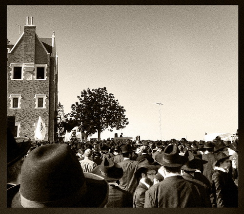 the chabad shluchim funeral. photo credit: Amnon Winner