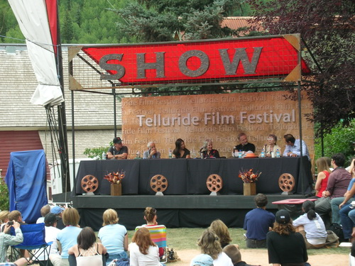 david fincher panel in telluride 2008. photo: omer manor