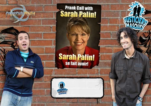 sarah palin pranked by canada's masked avengers