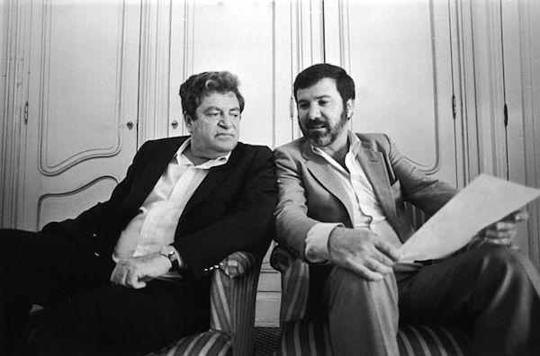 יורם גלובוס (מימין) ומנחם גולן, בימיהם הגדולים בקאנון, בשנות ה-80