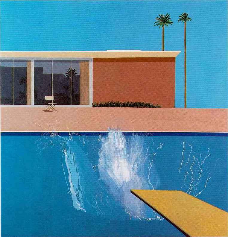 הציור ״A Bigger Splash״ של דיוויד הוקני