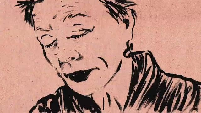 לורי אנדרסון, בקטע אנימציה שהיא ציירה מתוך ״לב של כלב״